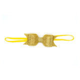 LAYERED GLITTER BOW HEADBAND (GOLD) - QKiddo.com