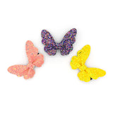 GLITTER BUTTERFLY HAIR CLIP (PURPLE) - QKiddo.com