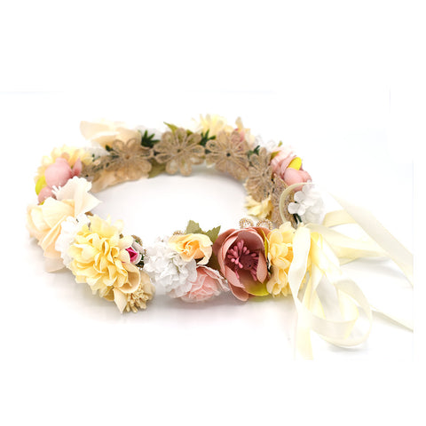 HANDMADE FLOWER WREATH/FLOWER CROWN - QKiddo.com