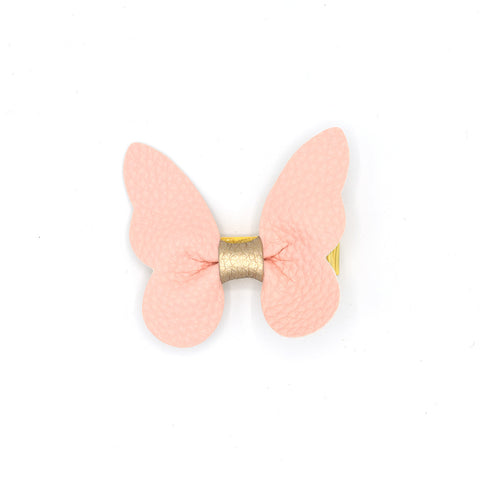 LEATHER BUTTERFLY HAIR CLIP (PINK) - QKiddo.com