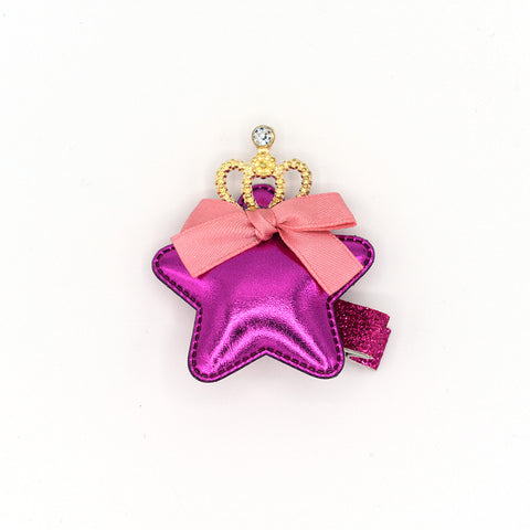 STAR CROWN HAIR CLIP (ROSE) - QKiddo.com