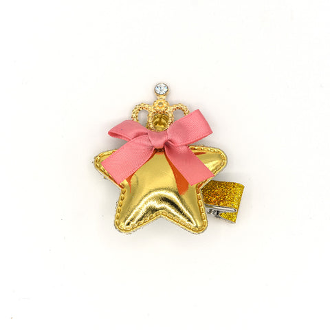 STAR CROWN HAIR CLIP (GOLD) - QKiddo.com