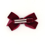 VELVET HAIR BOW CLIP (RED) - QKiddo.com