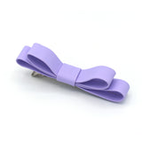 LARGE LEATHER HAIR BOW (PURPLE) - QKiddo.com