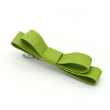 LARGE LEATHER HAIR BOW (GREEN) - QKiddo.com