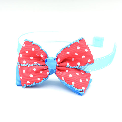 MINNIE'S HAIR BOW HEADBAND (PINK/BLUE) - QKiddo.com