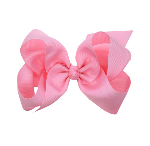 6 INCH HAIR BOW CLIP (PINK) - QKiddo.com