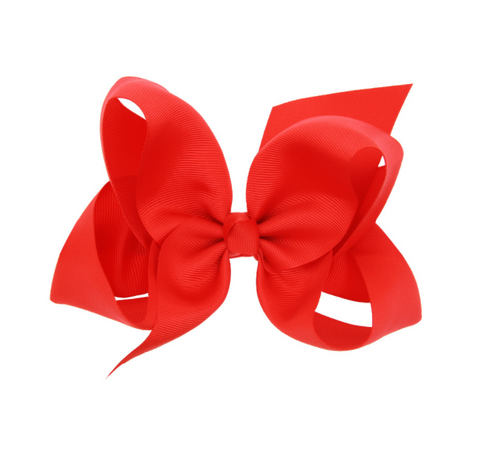 6 INCH HAIR BOW CLIP (RED) - QKiddo.com