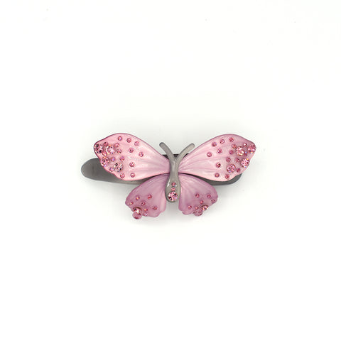 RHINESTONE BUTTERFLY HAIR CLIP (PINK) - QKiddo.com