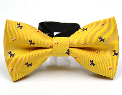 PUPPIES BOW TIE (YELLOW) - QKiddo.com
