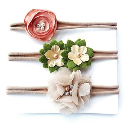 FLOWER GIRL HEADBAND SET (THREE PIECES) - QKiddo.com