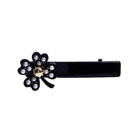LUCKY CLOVER DUCK HAIR CLIP (BLACK) - QKiddo.com