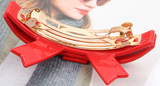 CLASSY BOW SPRING HAIR CLIP (ROUGE) - QKiddo.com