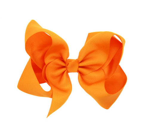 6 INCH HAIR BOW CLIP (ORANGE) - QKiddo.com