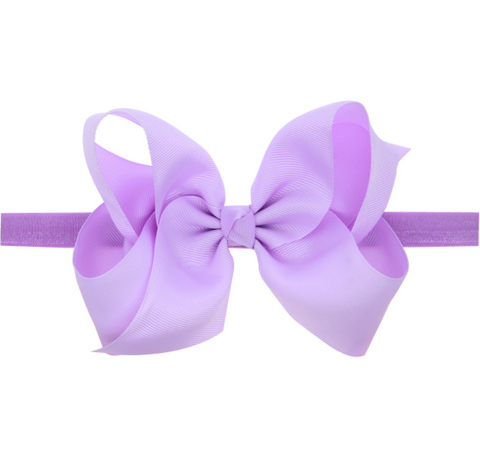 6 INCH HAIR BOW BAND (PURPLE) - QKiddo.com