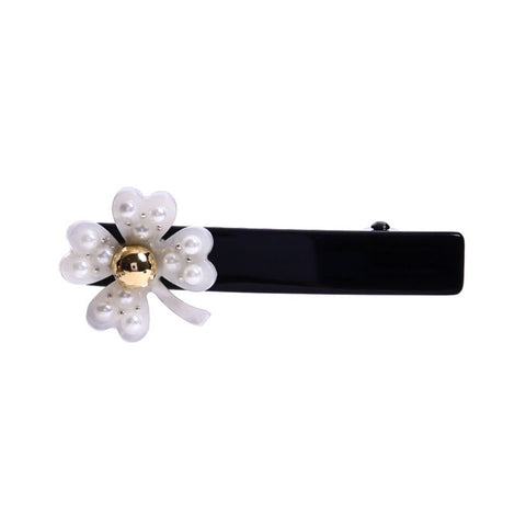 LUCKY CLOVER DUCK HAIR CLIP (WHITE) - QKiddo.com