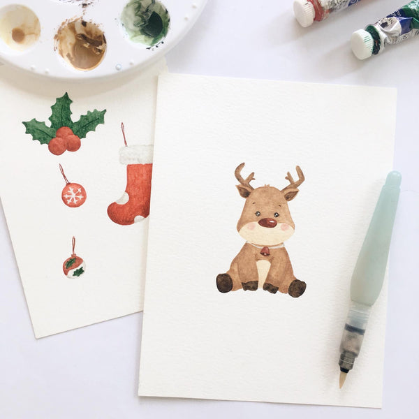 Rudolph the Reindeer Mini Shoes (Watercolour Friends Collection)