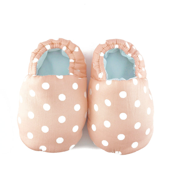 Peach Polkadot Mini Shoes