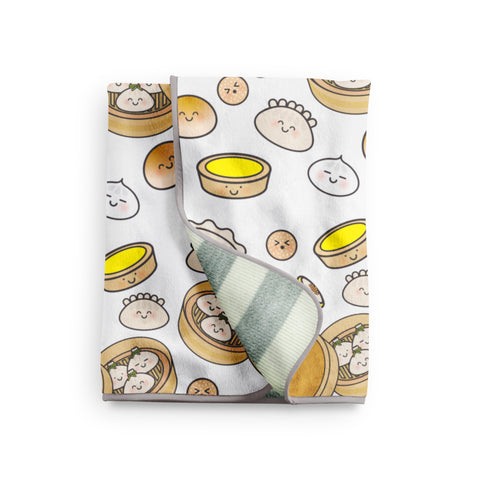 RESTOCKED SOON! EMAIL TO PREORDER - Hong Kong Dim Sum Snuggle Blanket