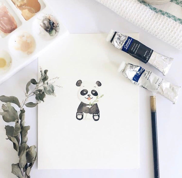 Kim the Panda Mini Shoes (Watercolour Friends Collection)