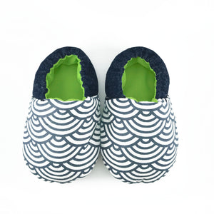 Blue Scallop Mini Shoes