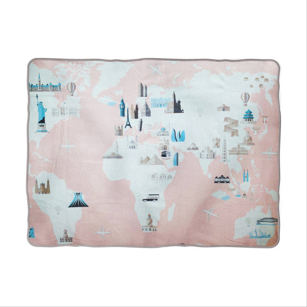 Little Explorer (Pink) Snuggle Blanket