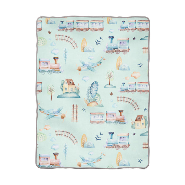 Little Boy's World Snuggle Blanket