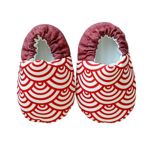 Red Scallop Mini Shoes