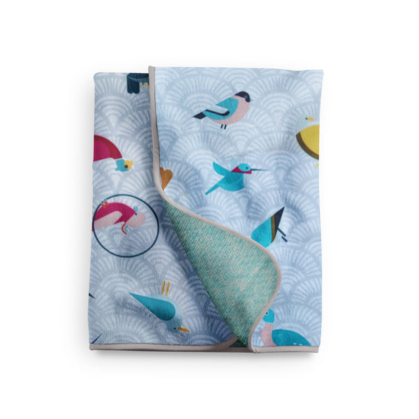Rising Sun Birds Snuggle Blanket