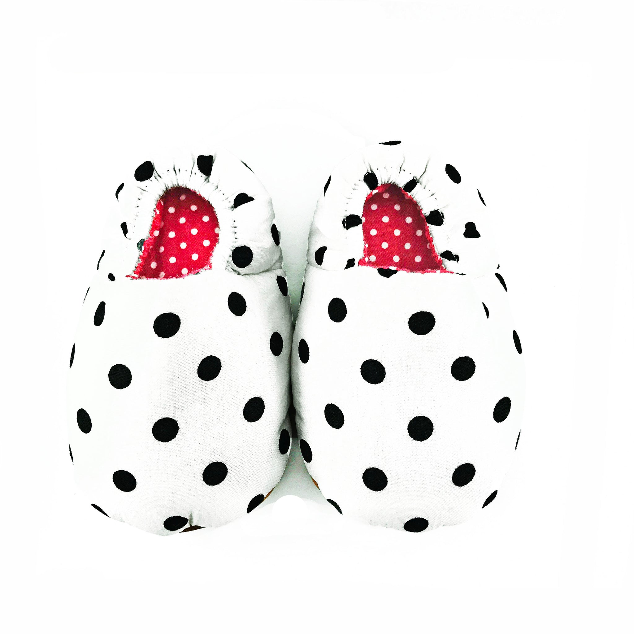White Polkadot Mini Shoes