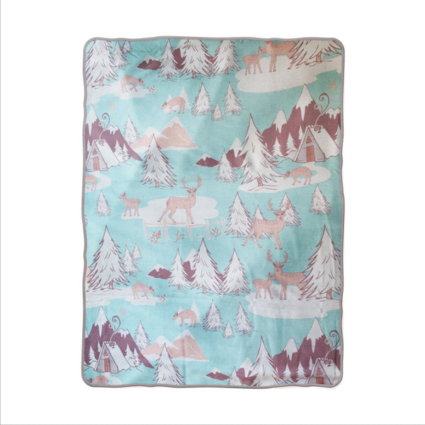 Winter Mountain Snuggle Blanket