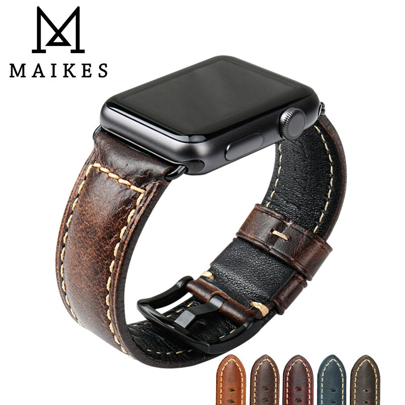 High-Quality Leather Apple Watch Band