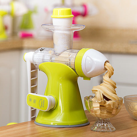 Juice and Ice Cream Machine with Handle