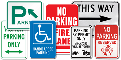 Parking/Street Signs