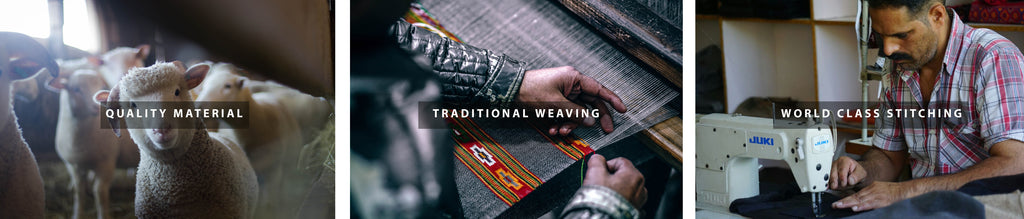 Quality Material, Traditional Weaving, World class stitching