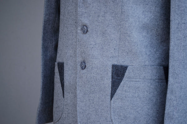 Grey Tweed Jacket-Pocket detail