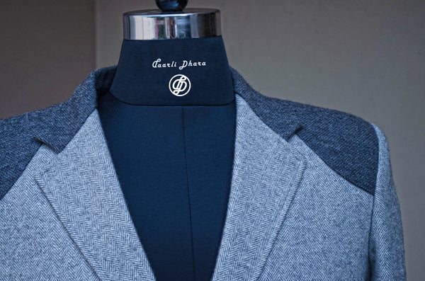 Grey Tweed Jacket-Collar detail