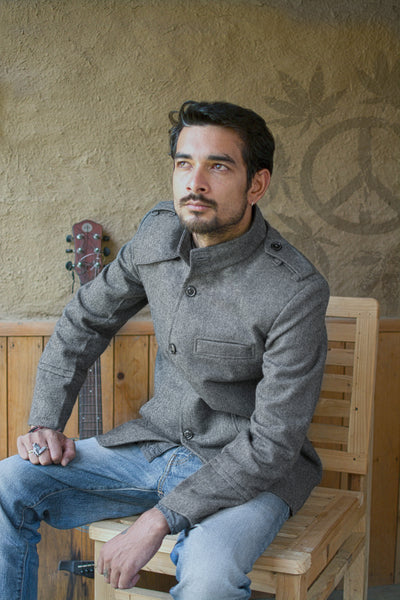 Dark Grey Men's casual Jacket-view 2
