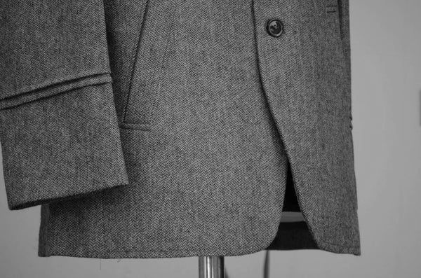 Dark Grey Men's casual Jacket-sleeve detail