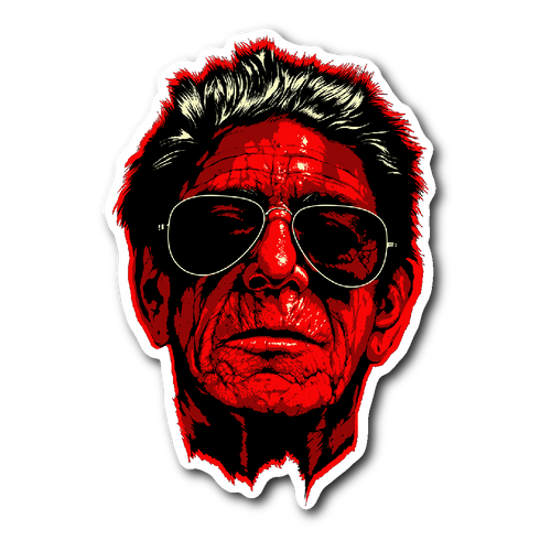 Lou Reed vinyl die-cut sticker
