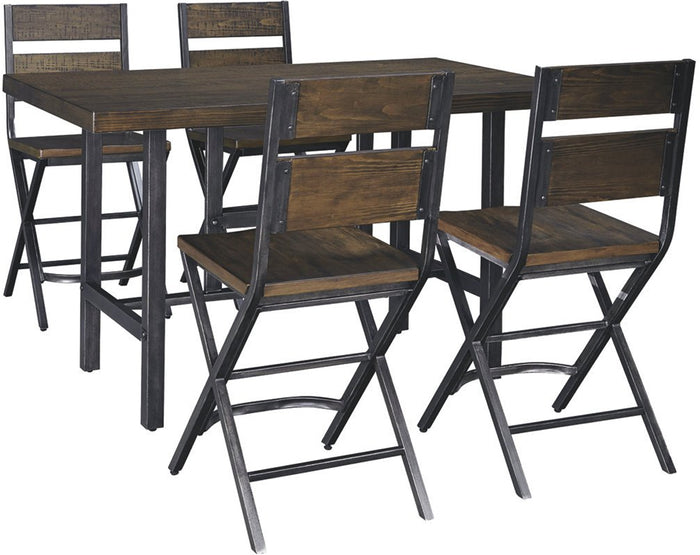Avara 5-Piece Dining Set (4 bar-stools and table)