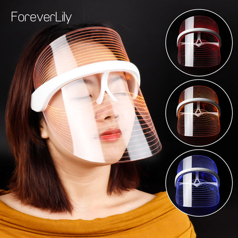 3 Colors LED Light Therapy Face Mask