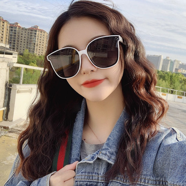 Polarized sunglasses for men and women  new Korean version of the trend of the network red street shot sunglasses anti-UV large frame glasses