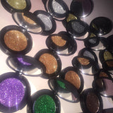 Pressed Cosmetic Glitter Compacts