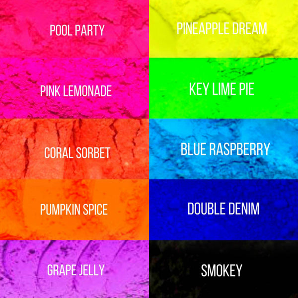 Premium Pure Neon Pigments Bundle