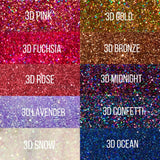 Premium Cosmetic Glitter - 3D Bundle