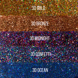 Premium Cosmetic Glitter - 3D Collection