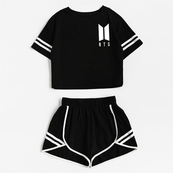 BTS Crop Top & Short Set