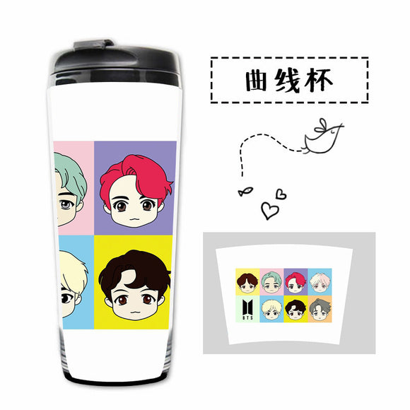 BTS Cute Characters Bias Bottle