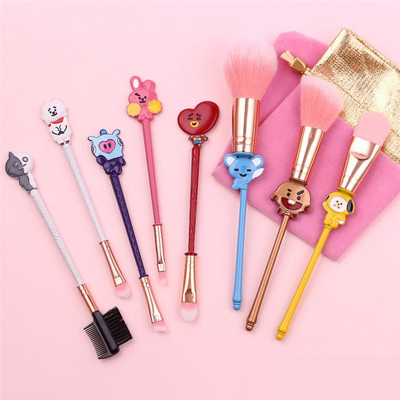 BT21 Make-up Brush Kit